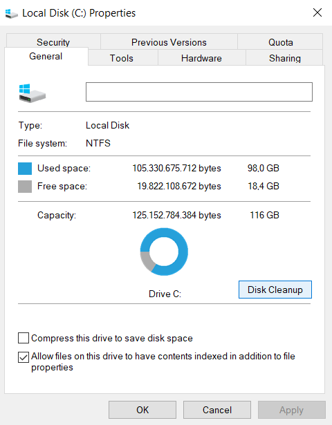 Curățare Disc sau Disk Cleanup in Windows 10