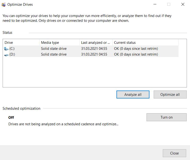 Curatare si optimizare Windows 10,Windows 10,ssd
