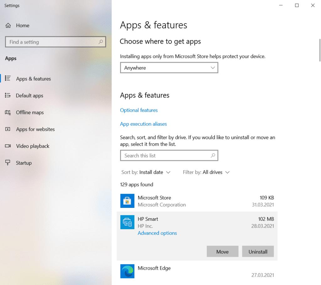 Eliminați programe neutilizate in Windows 10